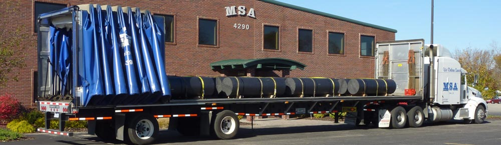 MSA Delivery Trailers Curtain Side Flatbeds Step Decks Double Drops Stretch Canton Michigan